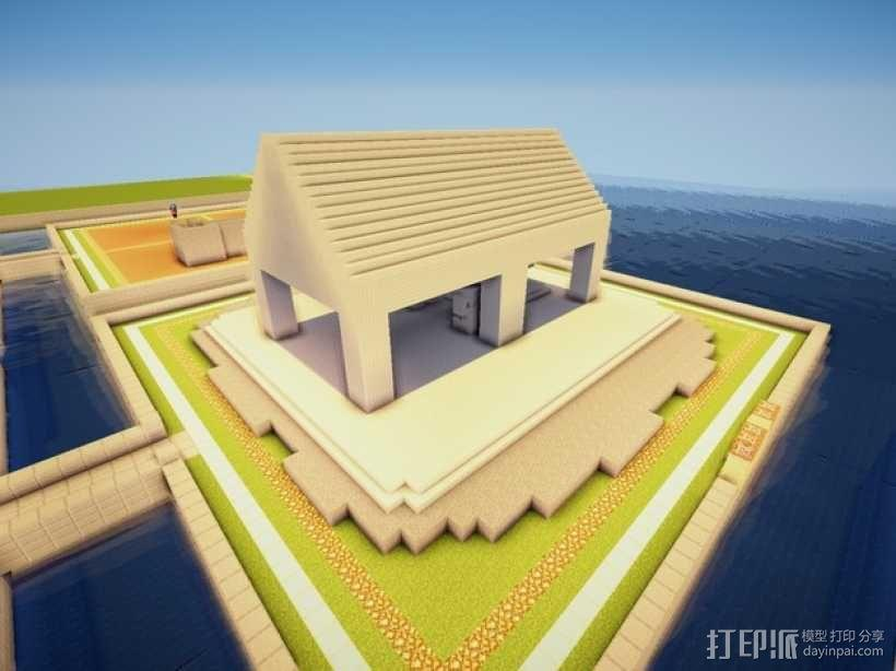 Minecraft:希腊神庙 3D模型  图3