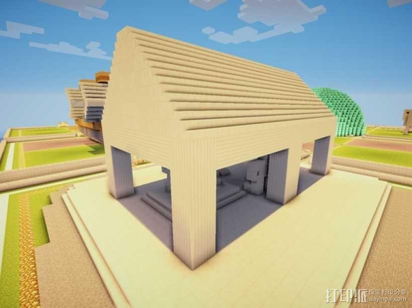 Minecraft:希腊神庙 3D模型  图4