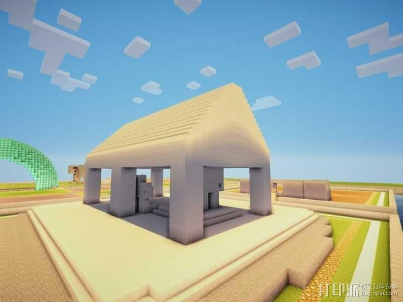 Minecraft:希腊神庙 3D模型  图5