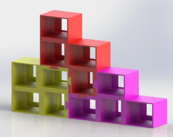 定制化模块化方块 3D模型  图2