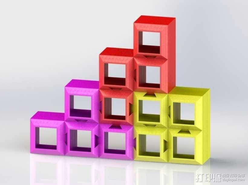 定制化模块化方块 3D模型  图1