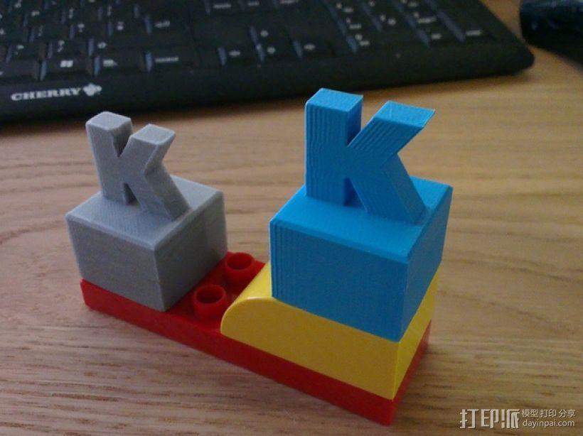 K字形得宝方块 3D模型  图1