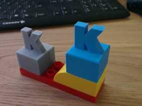 K字形得宝方块 3D模型