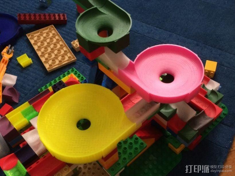 得宝兼容滚珠轨道模型 3D模型  图1