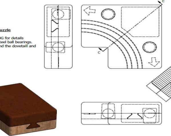 鸠尾榫拼图模型 3D模型  图6
