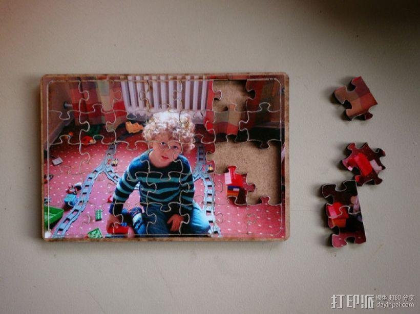 DIY相片拼图模型 3D模型  图1