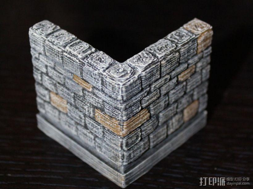OpenForge地牢墙角模型 3D模型  图3