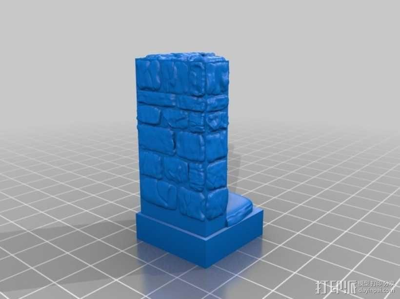 OpenForge地牢墙角模型 3D模型  图4