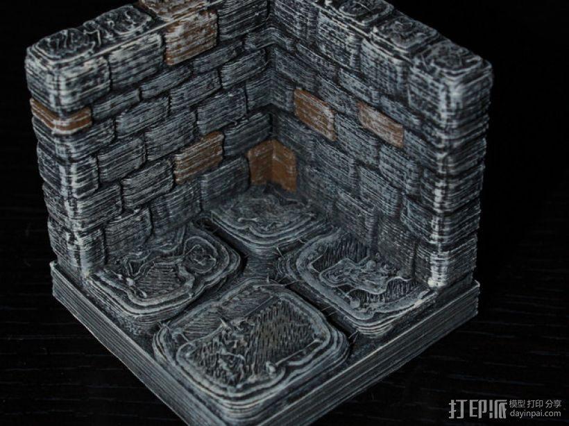 OpenForge地牢墙角模型 3D模型  图2
