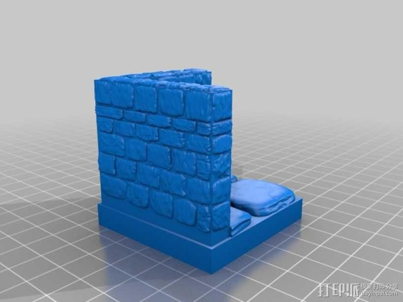 OpenForge地牢墙角模型 3D模型  图5