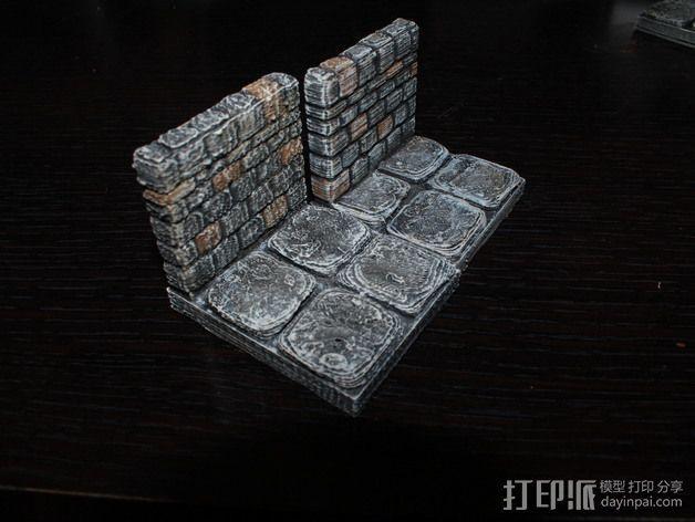 OpenForge地牢侧砖墙模型 3D模型  图4