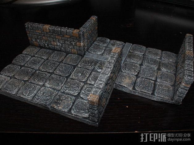 OpenForge地牢侧砖墙模型 3D模型  图3