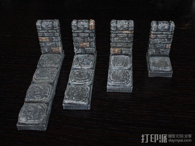 OpenForge地牢侧砖墙模型 3D模型  图5