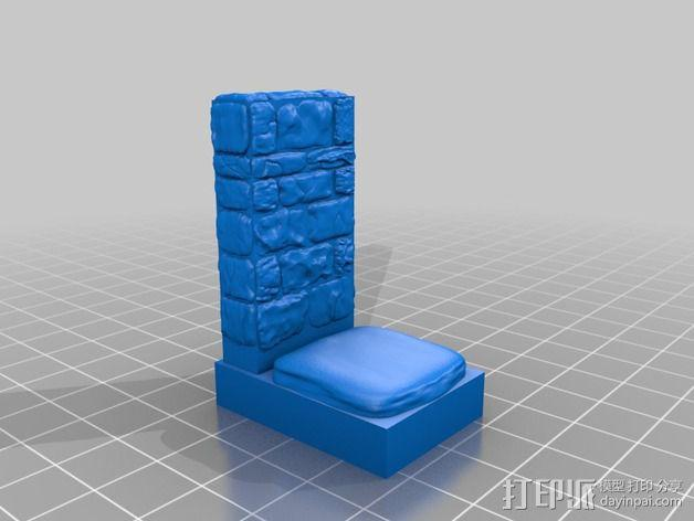 OpenForge地牢侧砖墙模型 3D模型  图10