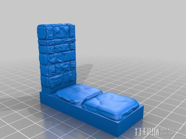 OpenForge地牢侧砖墙模型 3D模型  图11