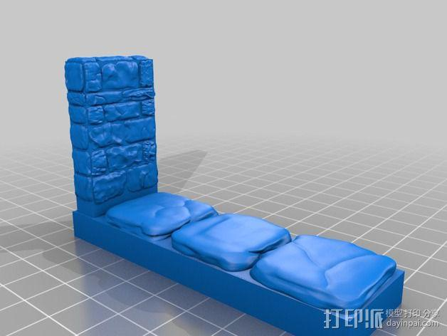 OpenForge地牢侧砖墙模型 3D模型  图12