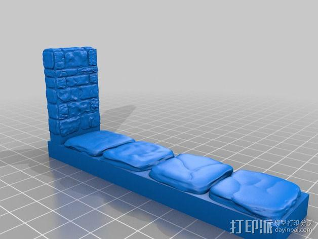 OpenForge地牢侧砖墙模型 3D模型  图13