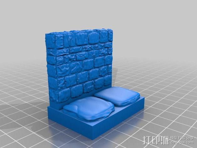 OpenForge地牢侧砖墙模型 3D模型  图14