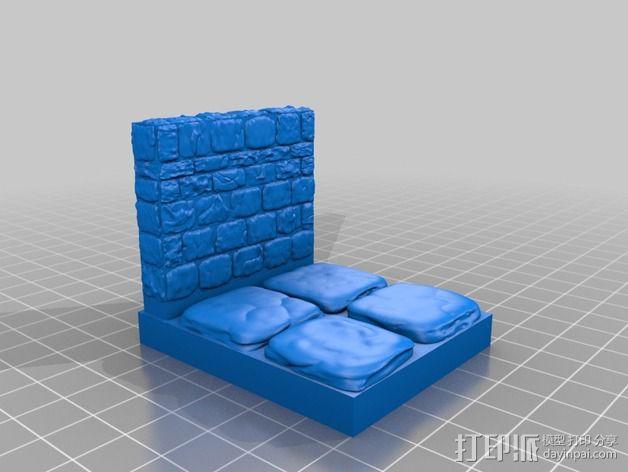 OpenForge地牢侧砖墙模型 3D模型  图15