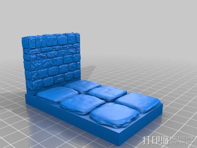OpenForge地牢侧砖墙模型 3D模型  图16