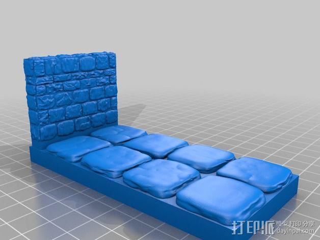 OpenForge地牢侧砖墙模型 3D模型  图17