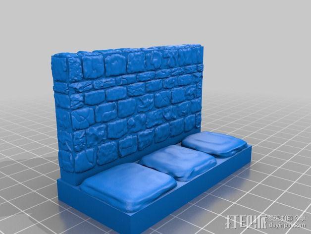 OpenForge地牢侧砖墙模型 3D模型  图18