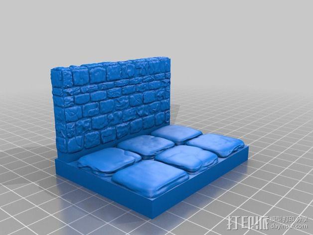 OpenForge地牢侧砖墙模型 3D模型  图19