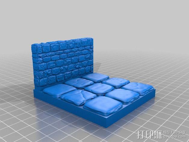 OpenForge地牢侧砖墙模型 3D模型  图21