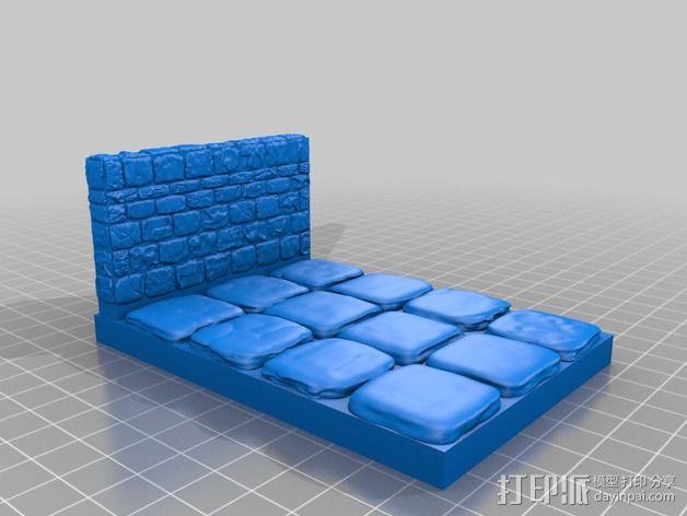 OpenForge地牢侧砖墙模型 3D模型  图23