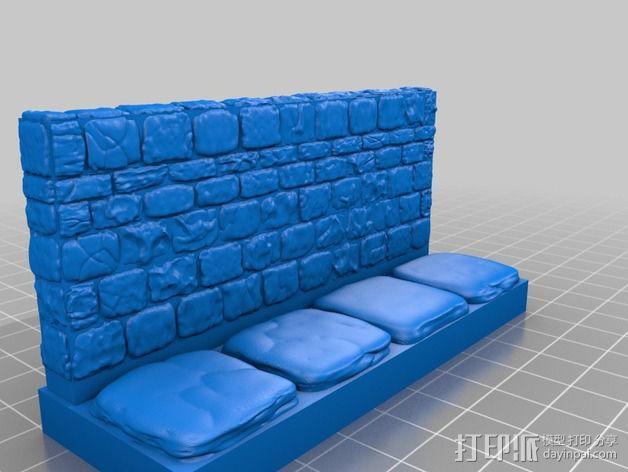 OpenForge地牢侧砖墙模型 3D模型  图24