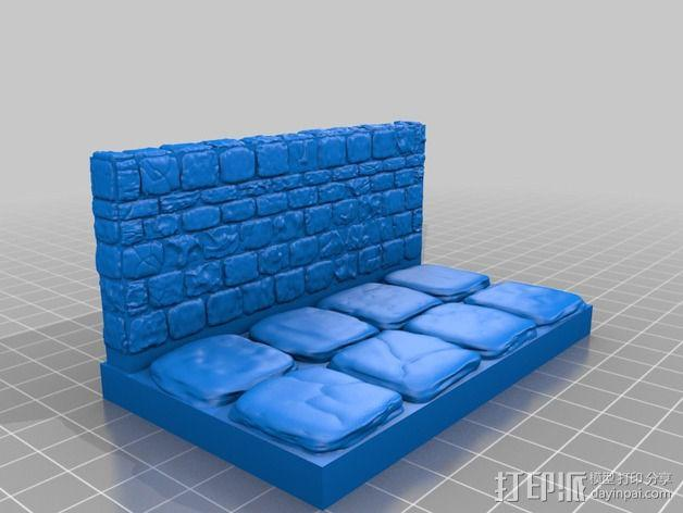 OpenForge地牢侧砖墙模型 3D模型  图25