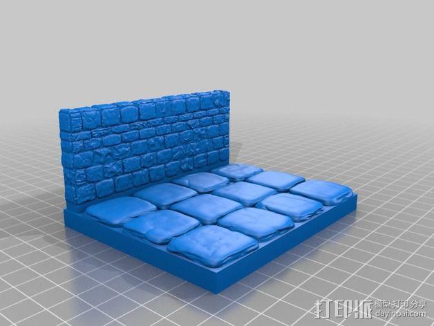 OpenForge地牢侧砖墙模型 3D模型  图26