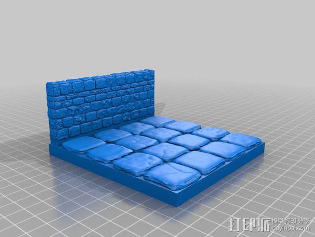 OpenForge地牢侧砖墙模型 3D模型  图29
