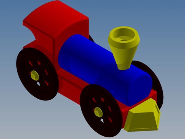 迷你小火车 3D模型  图2