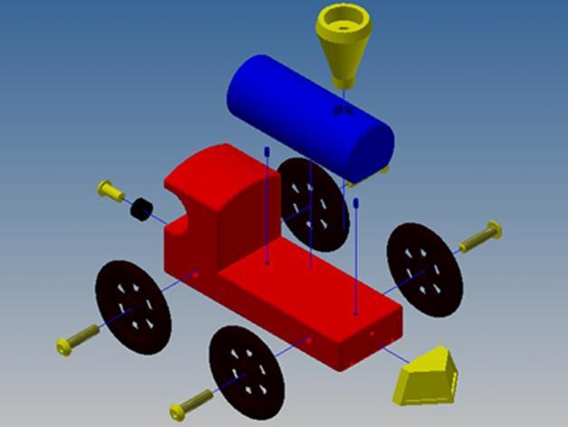 迷你小火车 3D模型  图3