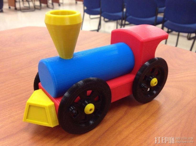 迷你小火车 3D模型  图1