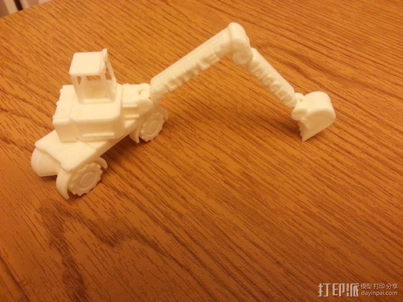 迷你挖掘机模型 3D模型  图1