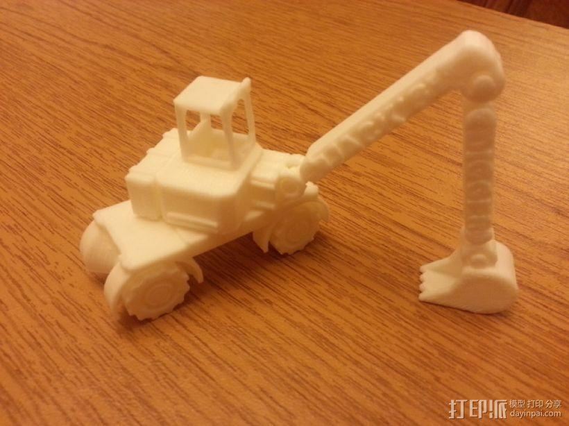 迷你挖掘机模型 3D模型  图4