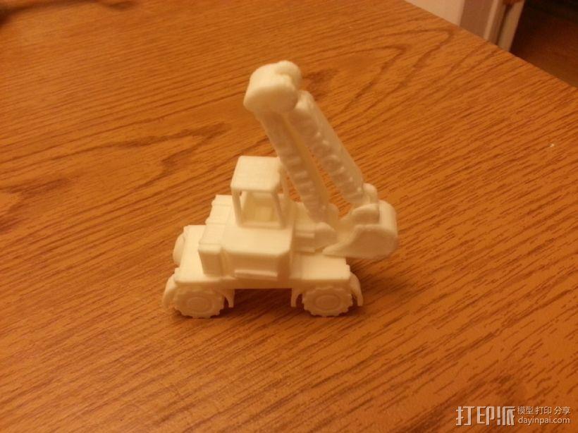 迷你挖掘机模型 3D模型  图3