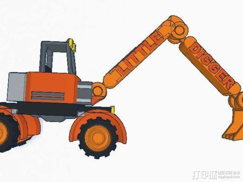 迷你挖掘机模型 3D模型  图6
