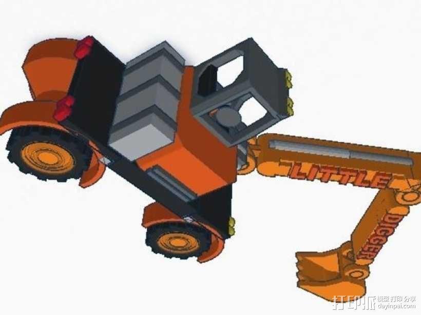 迷你挖掘机模型 3D模型  图7