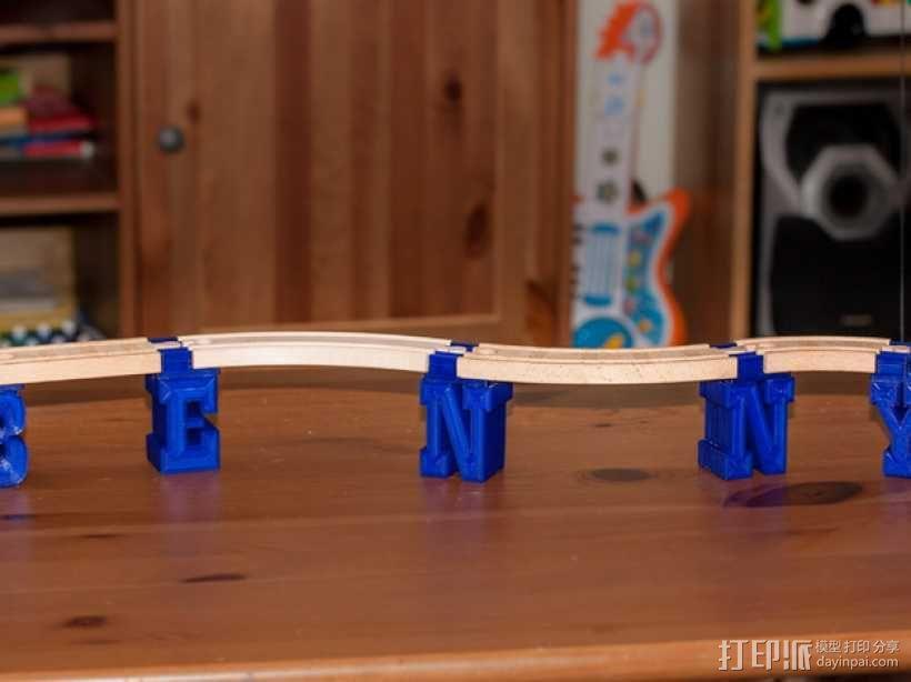 迷你火车桥支撑系统 3D模型  图1