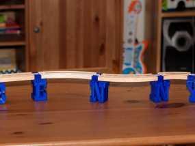 迷你火车桥支撑系统 3D模型