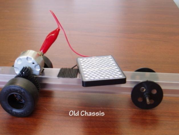 迷你太阳能车盘底座模型 3D模型  图1