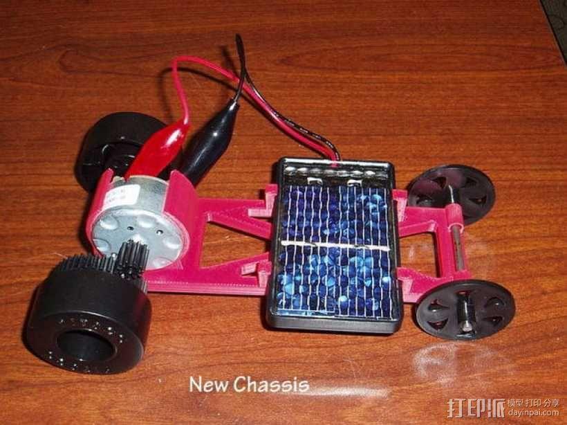 迷你太阳能车盘底座模型 3D模型  图3