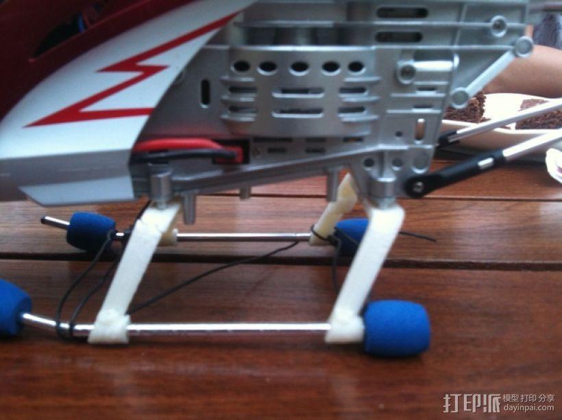 遥控直升机起落橇 3D模型  图3