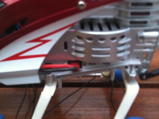 遥控直升机起落橇 3D模型  图2