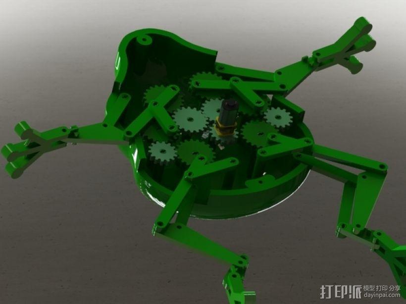 会游泳的机械蛙 3D模型  图1
