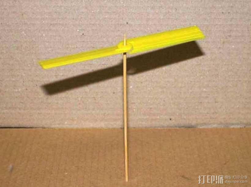 迷你竹蜻蜓 3D模型  图1