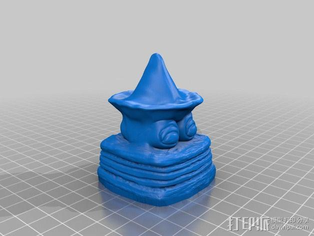 沙滩女巫模型 3D模型  图4